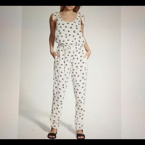 NWOT Madewell Palm Print Jumpsuit